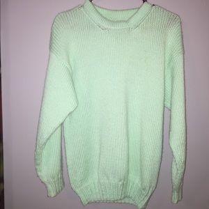 Mint Green Knit Sweater Medium